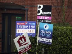 The total bill paid by millennials privately renting across Britain has shrunk by more than £9 billion in the past four years, according to Hamptons (Steve Parsons/PA)