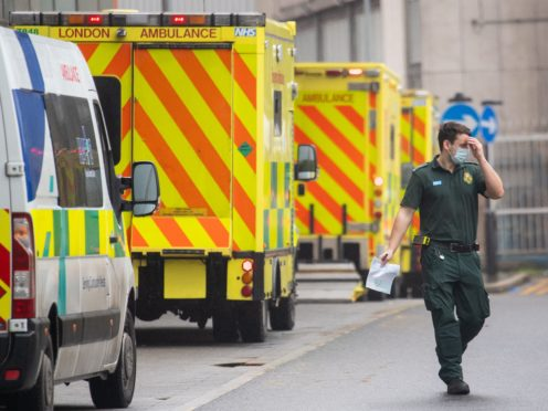 Covid-19 was the leading cause of death in England every month from November 2020 to February 2021 (Dominic Lipinski/PA)