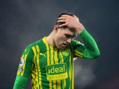 The West Brom defender was injured while on international duty (Michael Regan/PA)