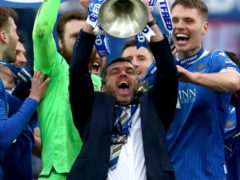 St Johnstone manager Callum Davidson with the trophy (Andrew Milligan/PA)