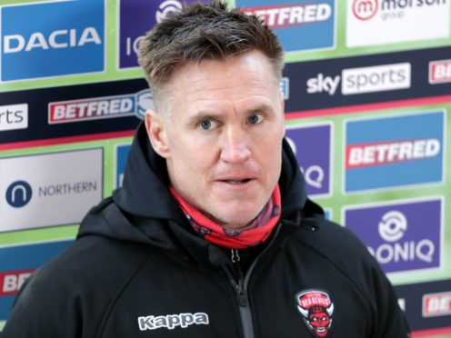 Salford head coach Richard Marshall after the Betfred Super League match at The Totally Wicked Stadium, St Helens. Picture date: Saturday April 3, 2021.