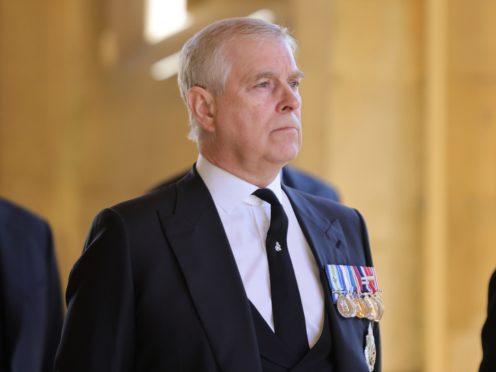 The Duke of York ahead of the funeral of the Duke of Edinburgh at Windsor Castle, Berkshire (Chris Jackson/PA)