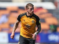 Scot Bennett has a foot injury and will miss out for Newport (Nigel French/PA)