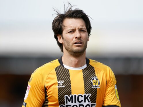 Wes Hoolahan could miss out again for Cambridge (Zac Goodwin/PA)