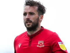 Morecambe's Aaron Wildig faces a fitness assessment (Barrington Coombs/PA)