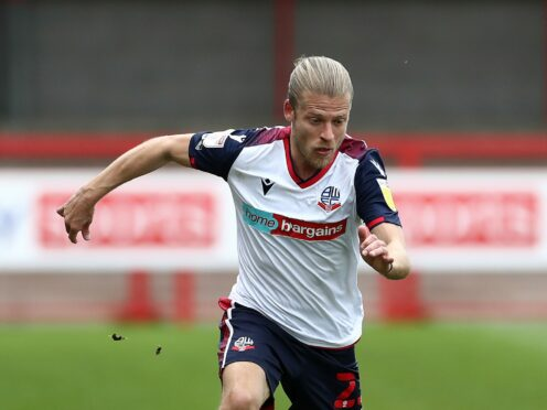 Lloyd Isgrove will miss out for Bolton (Gareth Fuller/PA)