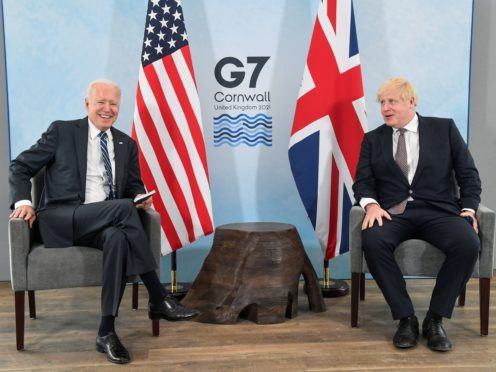 It will be Boris Johnson's first visit to the White House since Joe Biden's election (Toby Melville/PA)