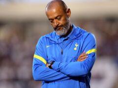 Tottenham have suffered three successive Premier League defeats under Nuno Espirito Santo (Nigel French/PA)