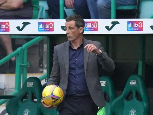 Jack Ross's Hibernian side host St Johnstone on Sunday (Jane Barlow/PA)