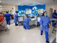 Staff on a hospital ward (PA)