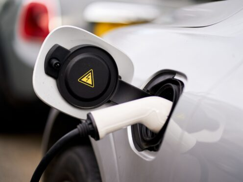 """File photo dated 5/3/2021 of an electric car being charged. Electric car owners should be incentivised to recharge batteries """"little but often"""" to avoid blackouts, according to MPs. A report by the Commons Transport Select Committee called for pricing to be used to change drivers' charging habits to ensure the growing demand for electricity can be met. Issue date: Wednesday July 28, 2021."""