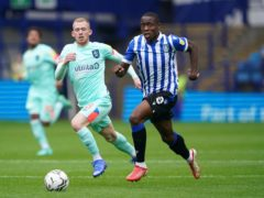 Dennis Adeniran (right) missed Sheffield Wednesday's defeat at Plymouth due to a muscle strain (Zac Goodwin/PA)