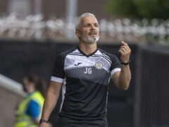 Jim Goodwin's St Mirren side are still awaiting their first league win of the season (Jeff Holmes/PA)