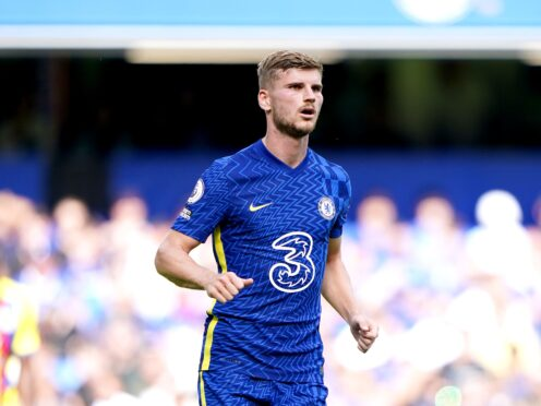 Timo Werner was happy to get off the mark for Chelsea for the season (Tess Derry/PA)