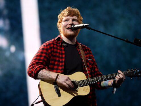 Ed Sheeran performed in Paris (Yui Mok/PA)