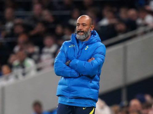 Nuno Espirito Santo's Tottenham face Rennes on Thursday (Adam Davy/PA)