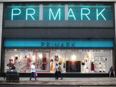 File photo dated 29/05/18 of a branch of Primark on Oxford Street, central London.