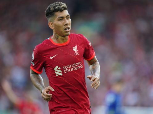 Liverpool's Roberto Firmino remains sidelined with a hamstring injury (Mike Egerton/PA)
