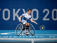 Great Britain's Gordon Reid remains on track to retain his Paralympic wheelchair singles title (Joel Marklund/OIS/PA)