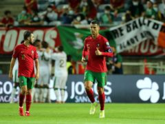 Portugal's Cristiano Ronaldo reacts after Republic of Ireland's John Egan scores their side's first goal of the game during the 2022 FIFA World Cup Qualifying match at the Estadio Algarve, Portugal. Picture date: Wednesday September 1, 2021.