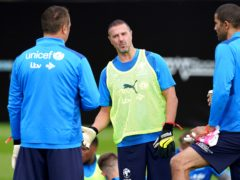 Paddy McGuinness during a training session ahead of Soccer Aid (Martin Rickett/PA)