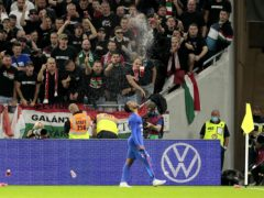 England's Raheem Sterling was targeted by monkey chants during the World Cup qualifier against Hungary earlier this month (Attila Trenka/PA)