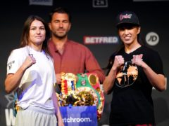 Katie Taylor (left) defended her title against Jennifer Han (Zac Goodwin/PA)