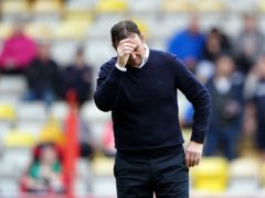 Derek Adams felt his side could not have done anything else to win the game (Zac Goodwin/PA)