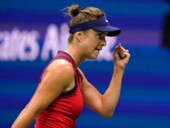 Elina Svitolina, pictured, beat Simona Halep (Seth Wenig/AP)