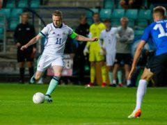 Shane Ferguson was the hero of Sunday's 1-0 friendly win in Estonia (Raul Mee/PA)