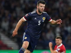 Grant Hanley is in fine form (Andrew Milligan/PA)