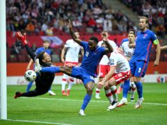 England suffered a frustrating night in Poland as the hosts netted a late equaliser (Rafal Oleksiewicz/PA)