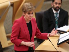 Nicola Sturgeon has said the biggest threat to women is 'abusive and predatory men' (Russell Cheyne/PA)
