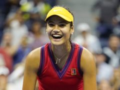 Famous faces have been congratulating 18-year-old British tennis star Emma Raducanu on reaching the final of the US Open (Zuma/PA)