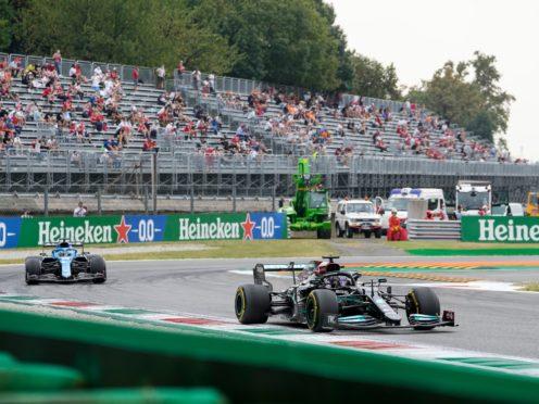 Lewis Hamilton starts second for Saturday's sprint race (Luca Bruno/AP)