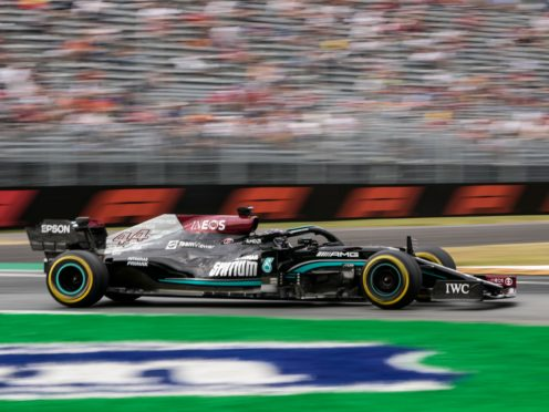 Lewis Hamilton is bidding to win his first race since the British Grand Prix (Luca Bruno/AP)