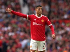 Cristiano Ronaldo scored twice on his second debut for Manchester United (Martin Rickett/PA)