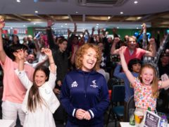 Supporters gathered at the Parklangley Club in Beckenham (David Parry/PA)
