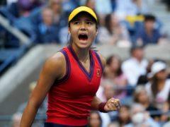 Emma Raducanu completed a fairy tale win (Elise Amendola/AP)