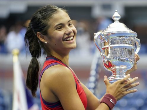 Emma Raducanu arrived back home five days after her US Open triumph (ZUMA/PA)