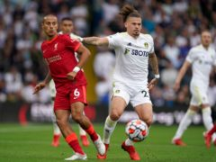 Jurgen Klopp said stopping Kalvin Phillips, right, was key to Liverpool's win at Leeds (Mike Egerton/PA)