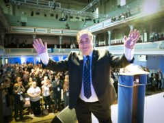 The Alba Party leader was confirmed in the post on the first day of the conference (Jane Barlow/PA)