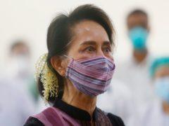 Myanmar's deposed leader Aung San Suu Kyi (Aung Shine Oo/AP)