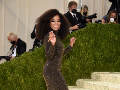 Keke Palmer was among the early arrivals at the Met Gala (Evan Agostini/Invision/AP)