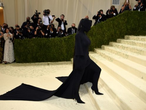 Kim Kardashian West raised eyebrows at the Met Gala by wearing a full face covering (Evan Agostini/Invision/AP)