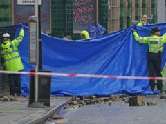 Emergency services at the scene of the crash (Kirsty O'Connor/PA)