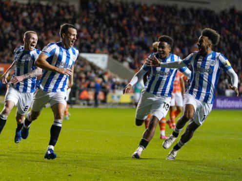 Jonathan Hogg scored Huddersfield's third goal (Martin Rickett/PA)