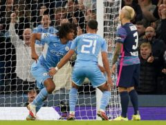 Manchester City's Nathan Ake has dedicated his goal against Leipzig to his father (Martin Rickett/PA)