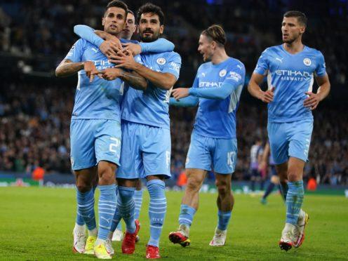 Manchester City racked up the goals (Martin Rickett/PA)