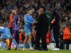 Jack Grealish earned Pep Guardiola's praise after the win (Martin Rickett/PA)